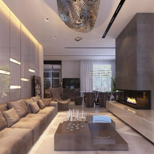 Вітальня в будинку з оніксом GMD_208