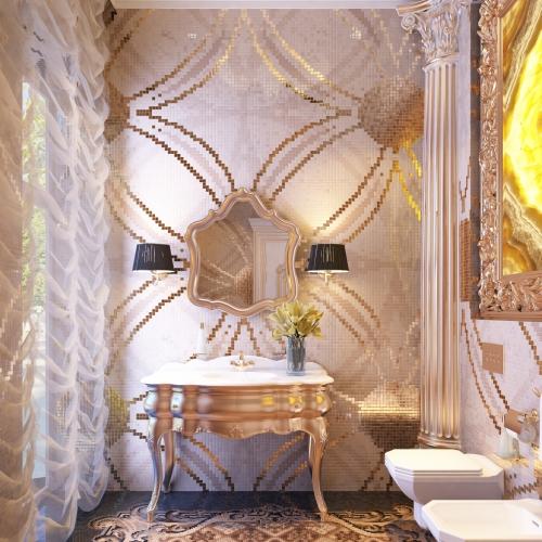 Роскошная ванная комната для гостей WK_216