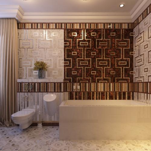 Ванна з геометричними орнаментами WMD_203