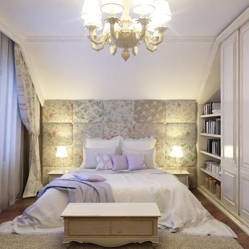 Світла спальня з класичним декором SK_109