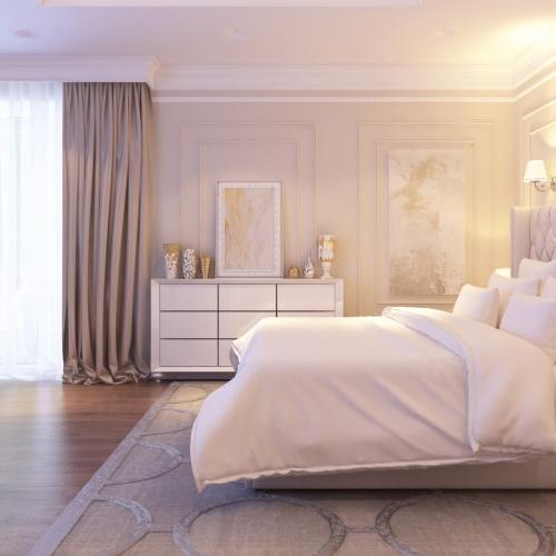 Спальня з білими меблями SMD_206