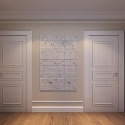 Класичні світлі двері з фільонками DK_117