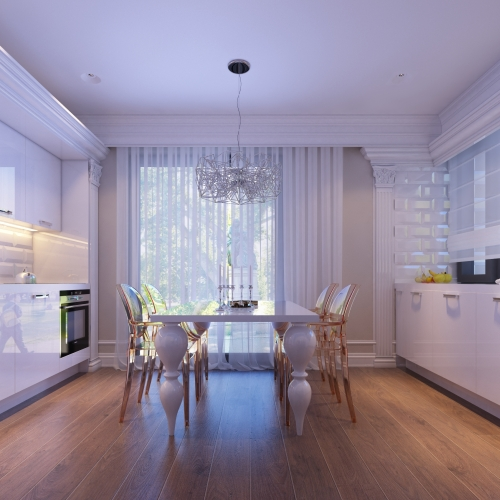 Біла кухня K_107