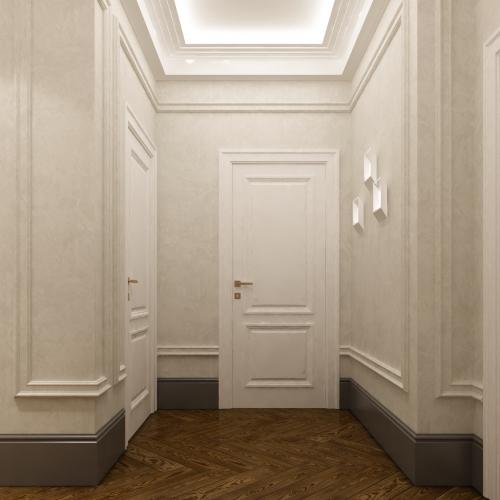 Білі класичні двері з фільонками DK_121