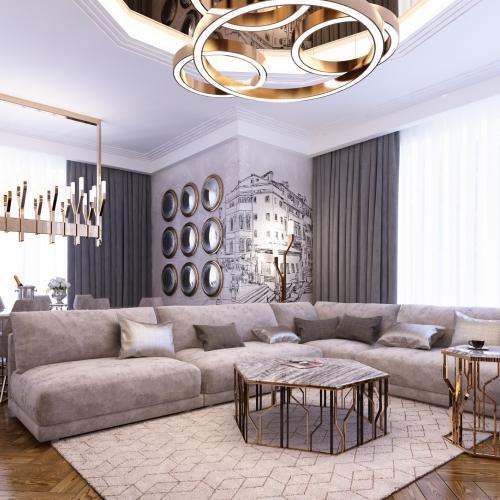 Просторная гостиная в квартире GMD_220