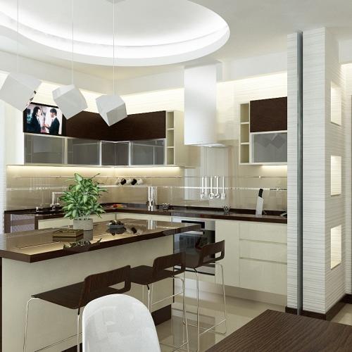 Кухня в стилі Хай-тек H_408