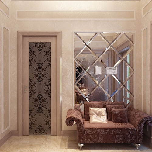 Двері класичні з вітражем DK_109