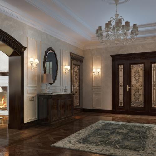 Двері класичні з вітражем DK_107