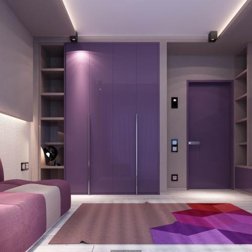 Двері рожеві глянцеві DH_301