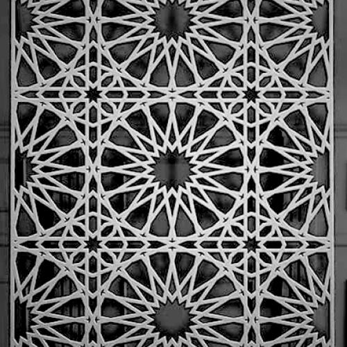 Декоративна сітка в стилі хайтек 3D_102