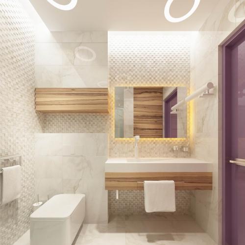 Ванная комната в стиле хай тек WH_403