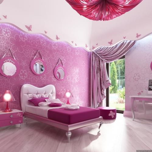 Детская в розовых цветах KRK_102
