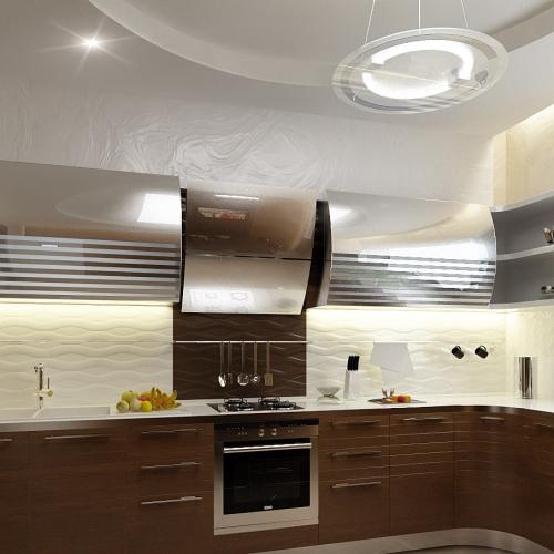Кухня в коричневому шпоні MD_214