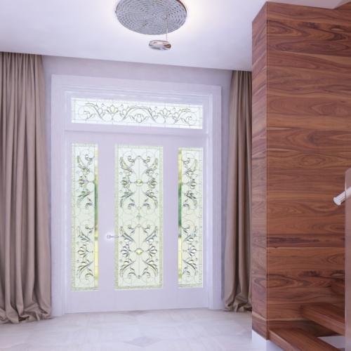 Двері з вітражем DK_104