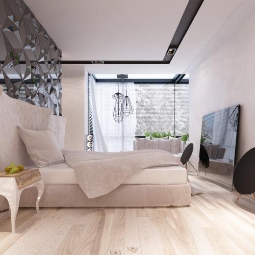 Спальня з геометричною перегородкою SMD_203