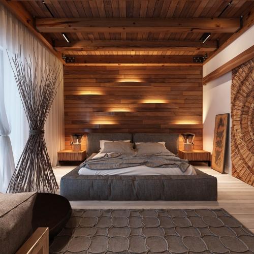 Спальня з деревом SMD_213