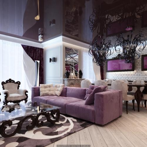 Гостиная в квартире в стиле модерн GMD_201