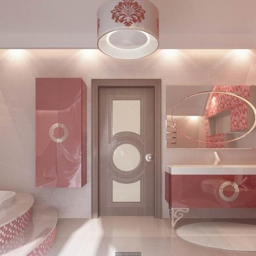 Ванная комната розовая WK_111