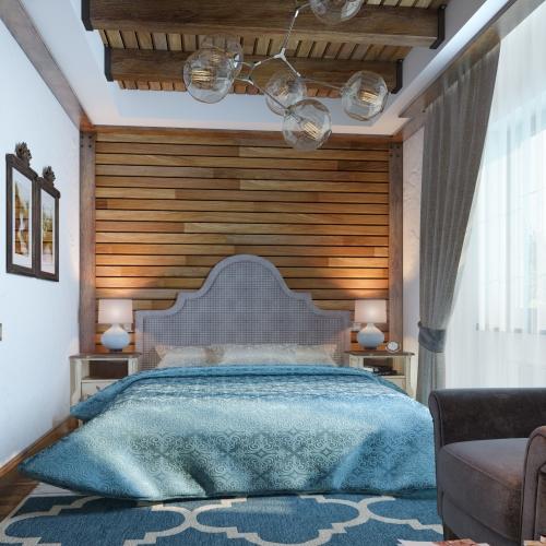 Спальня з фігурним підголовником SM_306