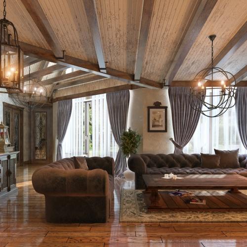 Вітальня в класичному стилі GK_104