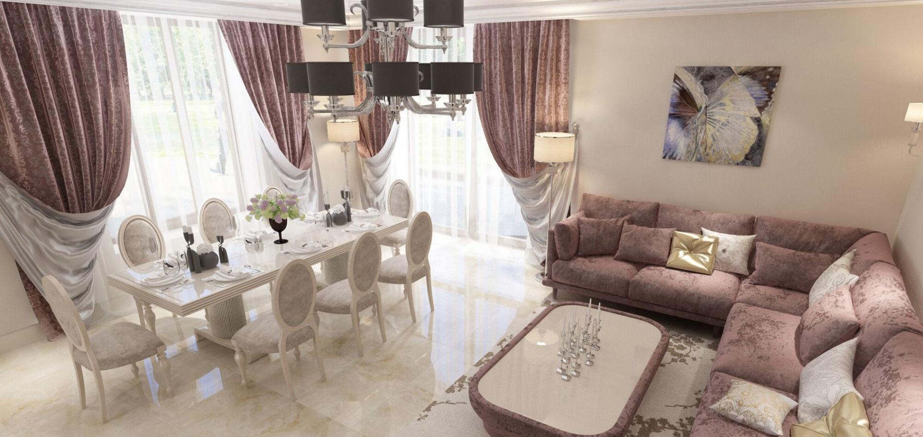 Вітальня в будинку класика GK_105
